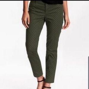Old Navy Sz 10 Green Polka Dot Pixie Ankle Pants
